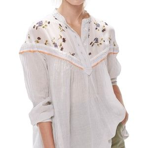 Free People Blouse Tunic Top Hearts and Colors L